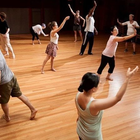 In a Dalcroze class, students seek artistic and authentic gestures.